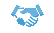 image of shaking hands icon for ABOUT MTI